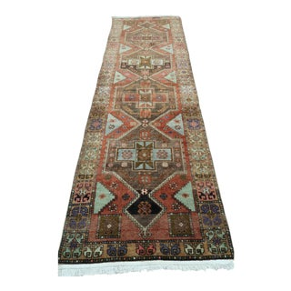 "Vintage Turkish Kilim Runner-3'10'x12'10"" For Sale"