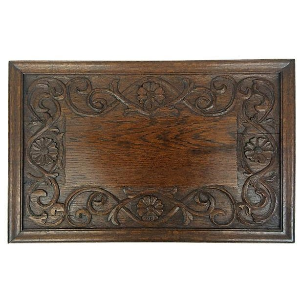 English Hand-Carved Tray - Image 1 of 3