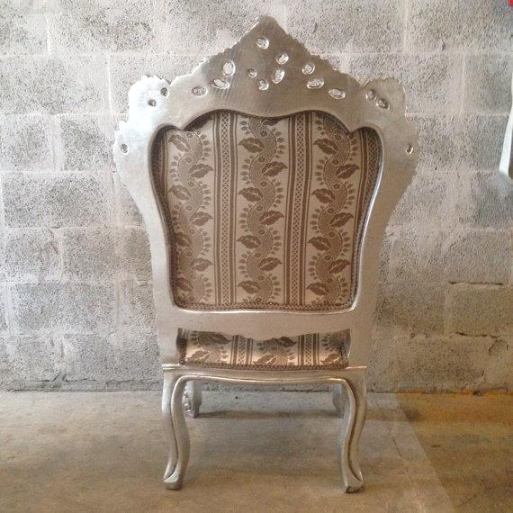 Italian Baroque Chairs in Gold Leaf - Pair - Image 5 of 5