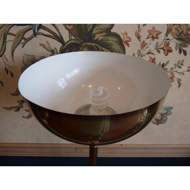 Brass Torchiere Floor Lamp - Image 6 of 6