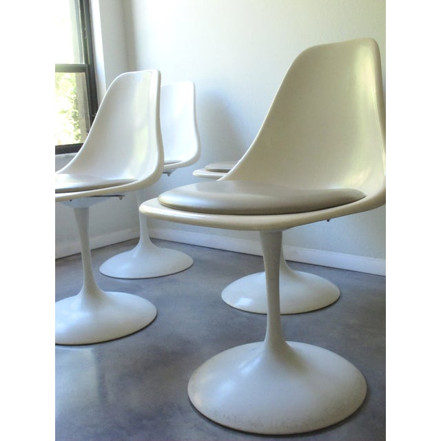 Mid-Century Tulip Burke Dining Swivel Chairs - S/4 - Image 3 of 9
