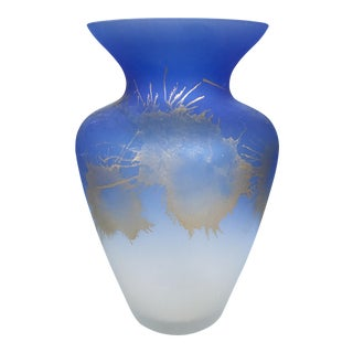 German Mouth Blown Glass Vase