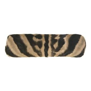 Zebra Hide Bolster Pillow For Sale