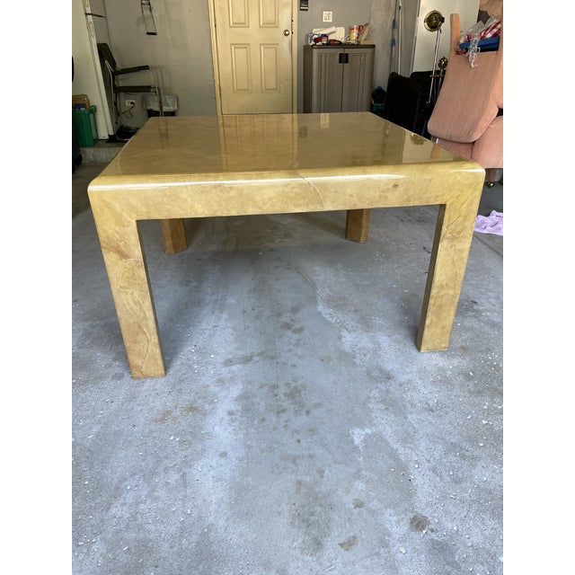 1980s Goat Skin Dining Table For Sale - Image 9 of 9