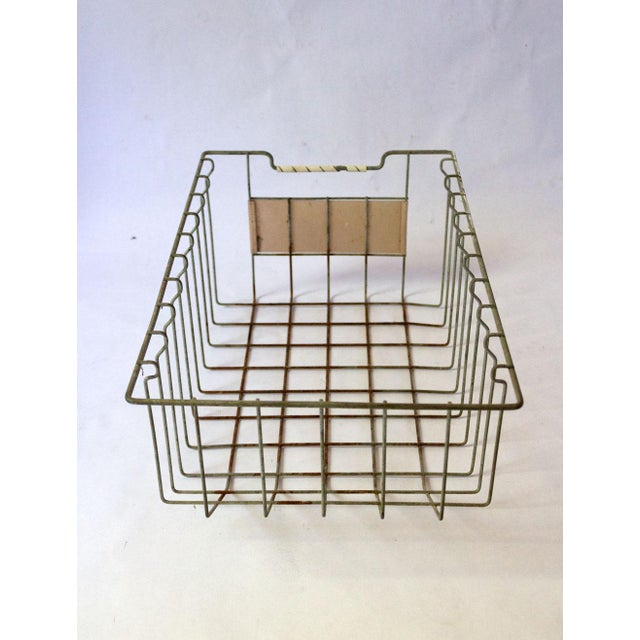 Vintage Mid Century Wire Basket For Sale In Dallas - Image 6 of 13