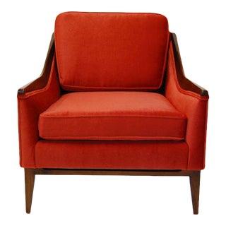 Mid Century Mohair Chair For Sale
