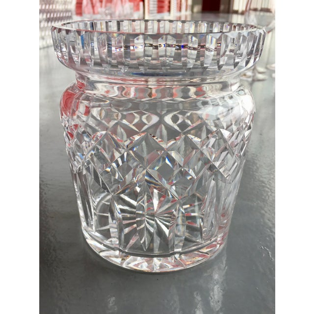 Crystal 1950s Waterford Lismore Biscuit Barrel For Sale - Image 7 of 7