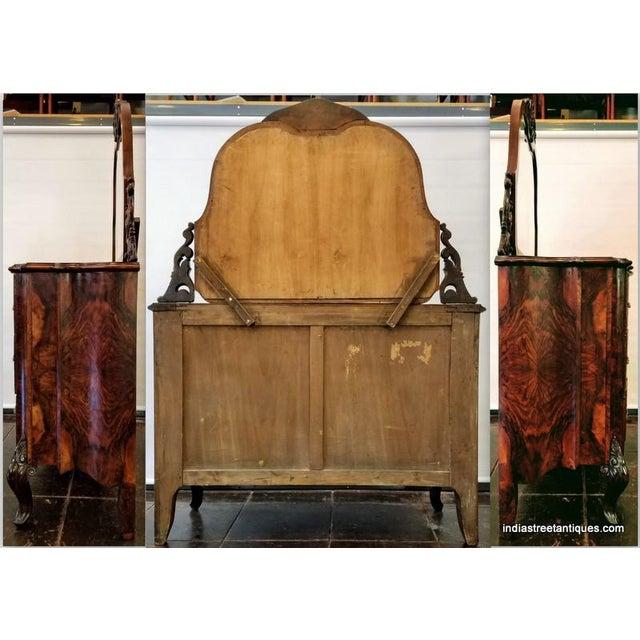 Sienna Antique Italian Olive Wood Neo-Rococo Venetian Baroque Six Piece Bedroom Suite For Sale - Image 8 of 13