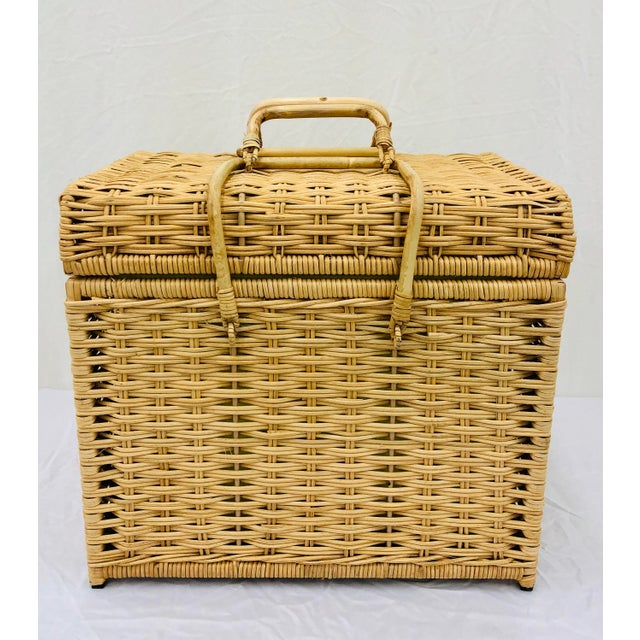 Woven Wicker Filing Box For Sale - Image 12 of 12