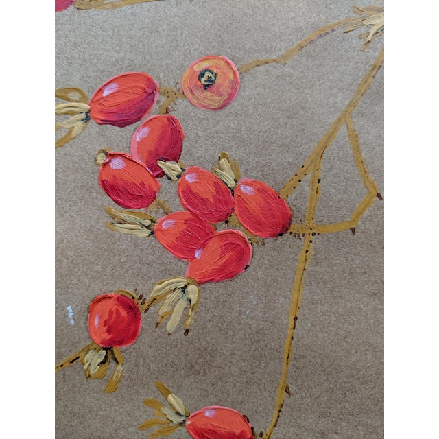 This is a botanical, oil on paper painting by Edith Brunning dated in the 1960s. This is one of several in a series of...