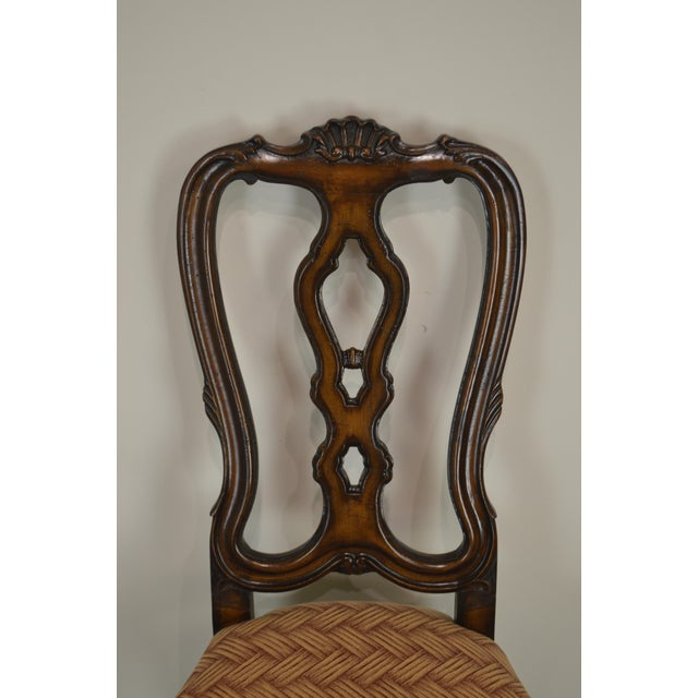 Rococo Style Carved Walnut Set of 6 Vintage Dining Chairs For Sale - Image  12 of - Rococo Style Carved Walnut Set Of 6 Vintage Dining Chairs Chairish