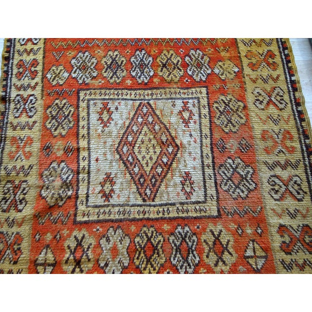 1900s Handmade Antique Moroccan Berber Rug 4' X 7.6' For Sale In New York - Image 6 of 11