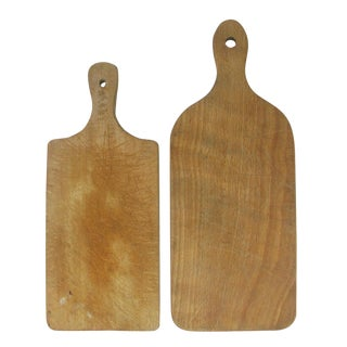 Vintage French Bread / Cheese Boards, Pair For Sale