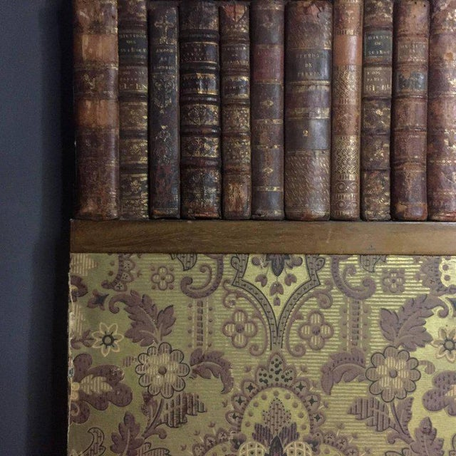 Late 19th Century Panels of 18th Century French Bookbinds For Sale - Image 9 of 11