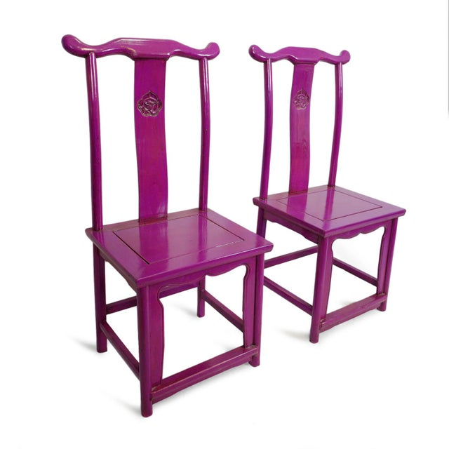 2010s Purple Ming Dining or Side Chair For Sale - Image 5 of 7