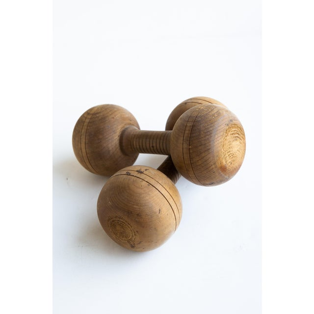 20th Century Americana Wooden Weights - a Pair For Sale In San Francisco - Image 6 of 6