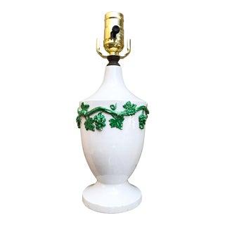 Italian Ceramic Accent Lamp For Sale