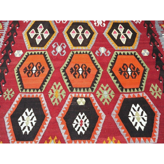 Vintage Turkish Kilim Rug - 6′6″ × 12′5″ - Image 6 of 10