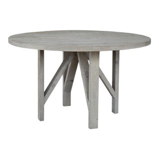 Round White Wash Pine Table For Sale