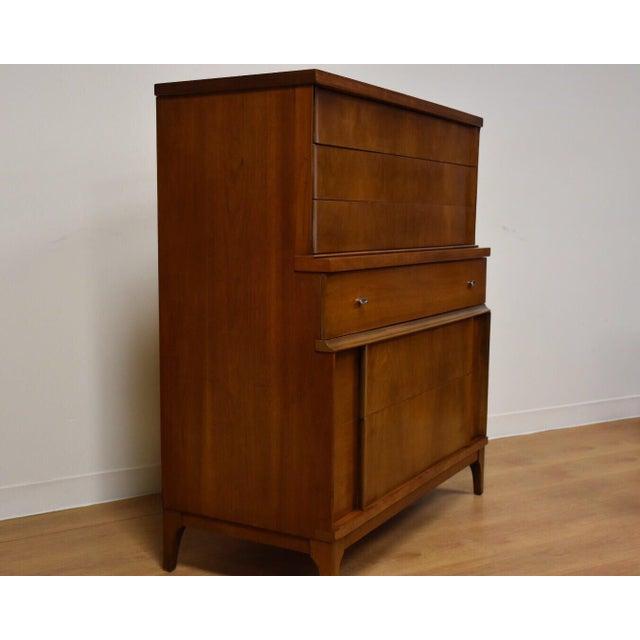 Walnut Mid Century Modern Tall Dresser Chairish