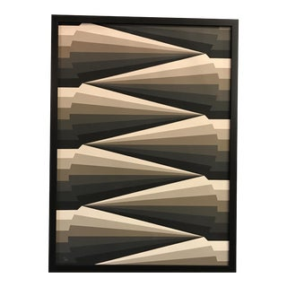 Framed Geometric Abstract Lithograph