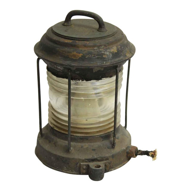 Nautical Lantern With Corning Glass - Image 1 of 7