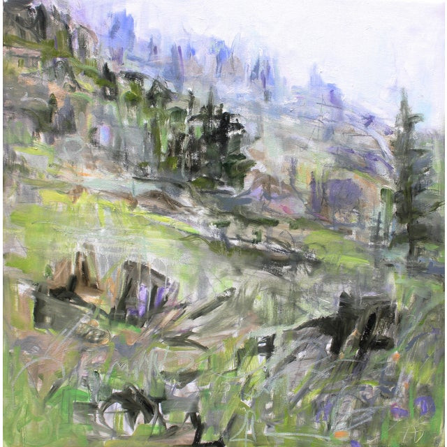 """""""Crested Butte"""" Abstract Landscape by Trixie Pitts - Image 1 of 2"""
