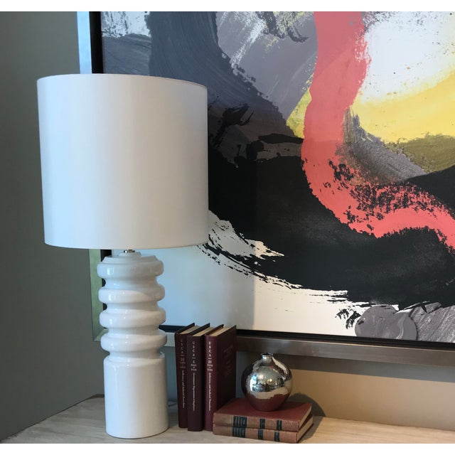 Our Contour Lamp is Clean and Simple with a strong Mid- Century Modern feel. The base is made from Portuguese Ceramic and...