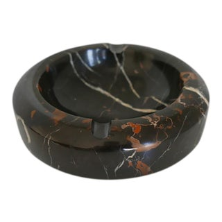 Modern Black and Brown Marble Ashtray/Catchall For Sale