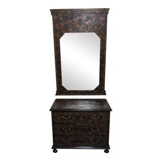 Sarreid Chest & Mirror - a Pair