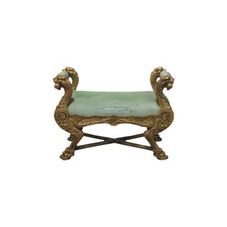 Renaissance Style Griffin Bench For Sale