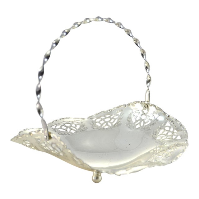 Silver Reticulated Footed Catchall For Sale