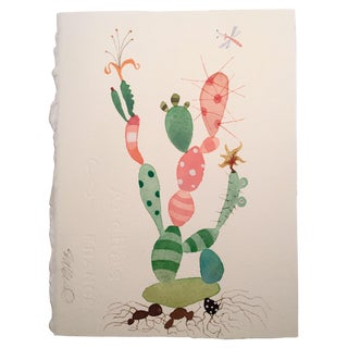 """""""Party Cactus"""" Watercolor Painting For Sale"""