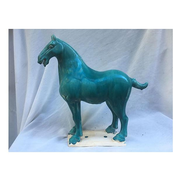 Chinese Tang-Style Turquoise Horse - Image 2 of 6
