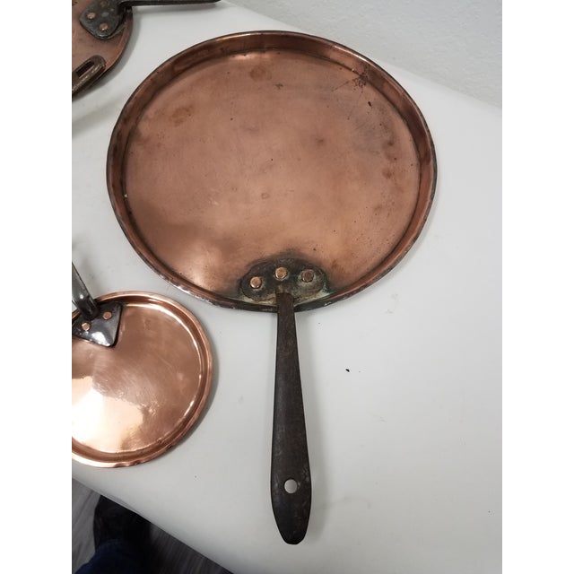 Late 19th Century Four Antique English Copper Pan Lids - Set of 4 For Sale - Image 5 of 8