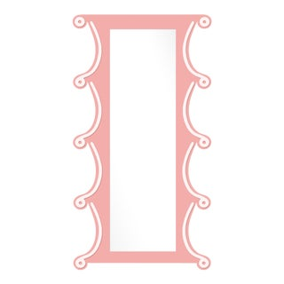 Fleur Home x Chairish Voodoo Mirror in Pink Punch, 42x84 For Sale