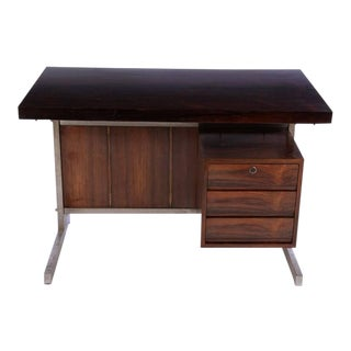 1960's Vintage Edward Wormley Style Rosewood Writing Desk For Sale