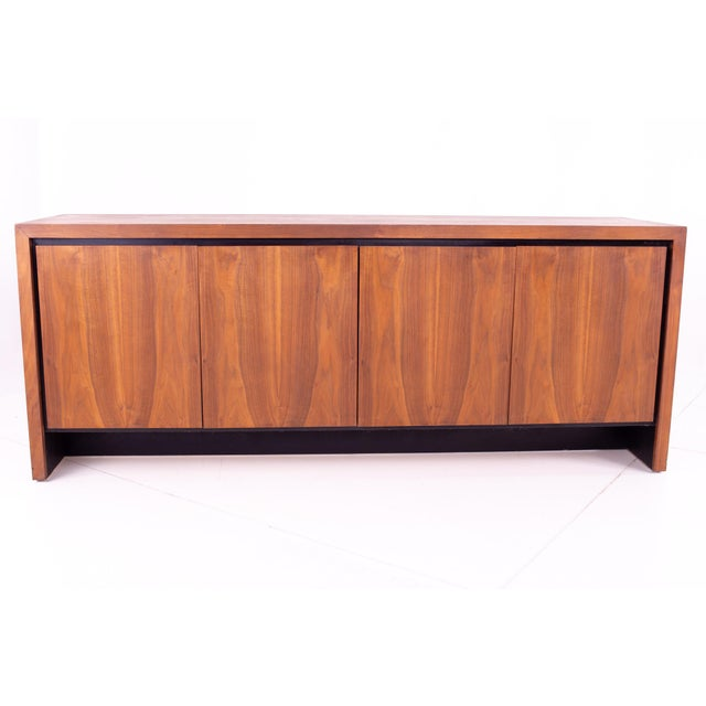 Mid Century Milo Baughman for Dillingham Bookmatched Walnut Sideboard Buffet For Sale - Image 13 of 13