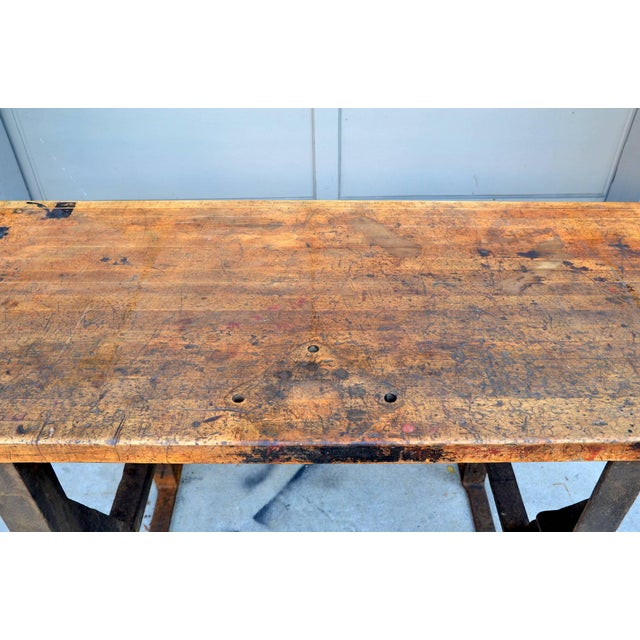 1920s 1920s Massive Patinated Industrial Console For Sale - Image 5 of 9