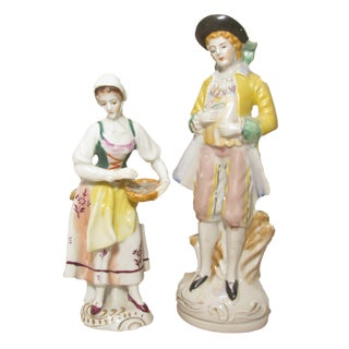 Staffordshire Style Figurines - A Pair For Sale