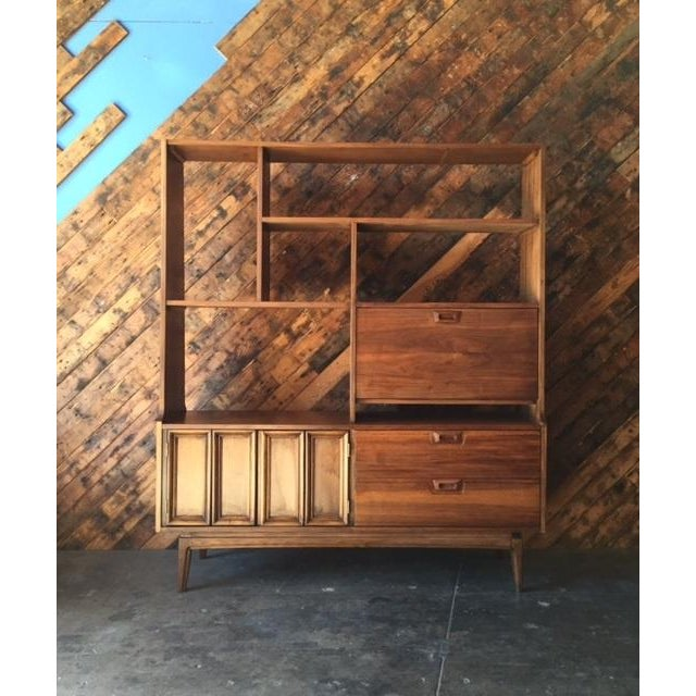 Mid Century Wall Unit Room Divider - Image 2 of 7