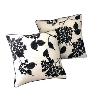 Ralph Lauren Apsley House Embroidery Pillows - a Pair For Sale