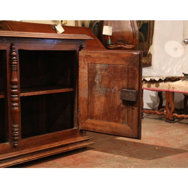Early 19th Century Early 19th Century French Louis XIII Carved Walnut Four-Door Enfilade Buffet For Sale - Image 5 of 13