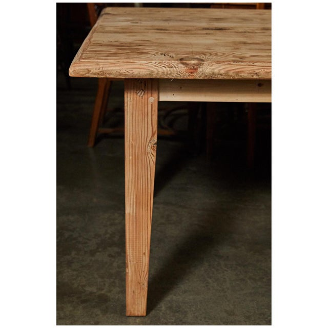Country Large Pine Rustic Dining Table For Sale - Image 3 of 5