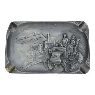 1922 Marseilles France Pewter Ashtray For Sale