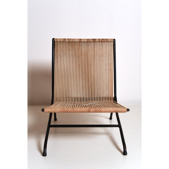Metal 1950s Allan Gould 'String' or 'Rope' Child's Chair For Sale - Image 7 of 11