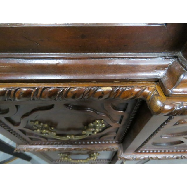 Georgian Style Carved China Cabinet For Sale - Image 4 of 6