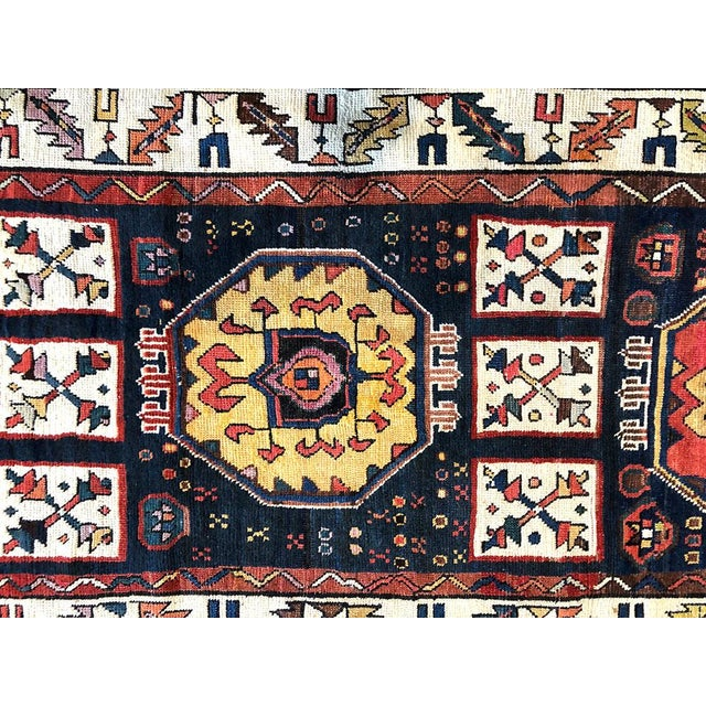 Early 19th Century Antique Persian Bakhtiari Runner Rug - 3′8″ × 9′ For Sale - Image 4 of 7
