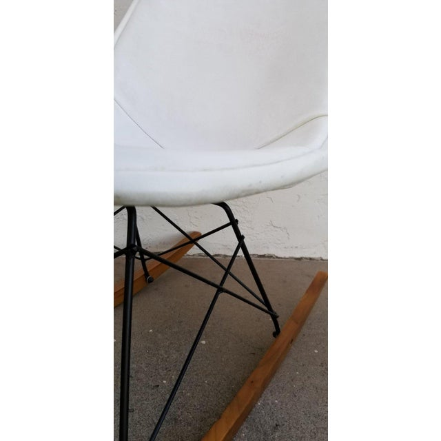 Mid 20th Century Eames Wire Seat Rkr Rocker For Sale - Image 5 of 9