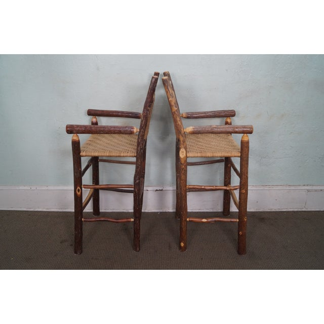 Old Hickory Rustic Barstools - Set of 3 - Image 3 of 10